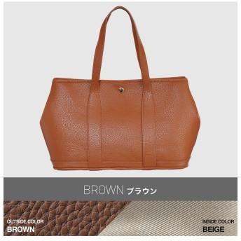 (kalie/カリエ)大人シンプルで幅広いシーンで活用できるトートバッグ riche-m/レディース ブラウン系1
