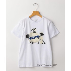 (SHIPS KIDS/シップスキッズ)SHIPS KIDS:【ひつじのショーン】<MAYHEM IN THE MEADOW!>Tシャツ(145cm)/レディース ホワイト系