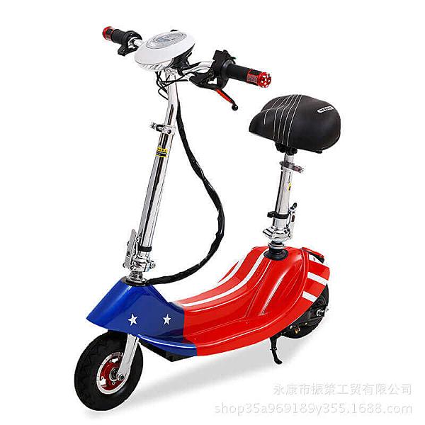 現貨 買一送四 升級新款時尚爆走迷你折疊滑板電動車(升級無刷版可跑20-25公里) 電瓶車 腳踏車