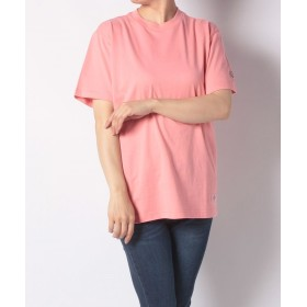 (Dickies/ディッキーズ)DickiesロゴワッペンルーズフィットS/S-Tシャツ/ユニセックス ピンク