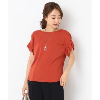 (any SiS S/エニスィスチイサイサイズ)【UVケア】レーヨンナイロンポンチ Tシャツ/レディース レッド系
