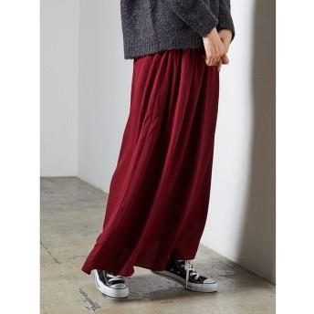 (koe/コエ)合繊ギャザースカート/レディース ボルドー