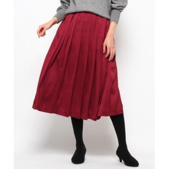 (Sofuol/ソフール)【Marisol 1月号掲載】サテンプリーツスカート/レディース ワインレッド(063)