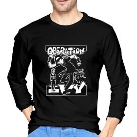 オペレーション・アイビー Operation Ivy メンズ Tシャツ長袖 冬秋服 Oネックシンプル カジュアル 大人のTシャツ