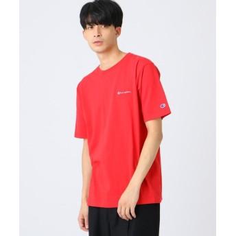 (tk. TAKEO KIKUCHI/ティーケー タケオキクチ)Champion for tk. TAKEO KIKUCHI ロゴ刺繍Tシャツ/メンズ レッド(062)