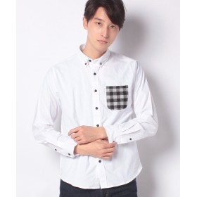 (SPENDY'S Store/スペンディーズストア)ポケット切替デザイン起毛シャツ/メンズ ホワイト