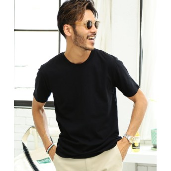 (JIGGYS SHOP/ジギーズショップ)コットンクルーネック半袖Tシャツ / Tシャツ クルーネック 半袖 ティーシャツ 無地/メンズ ブラック