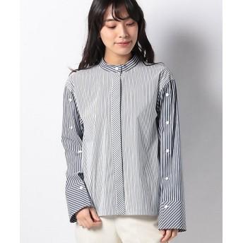 【SALE(伊勢丹)】<LA JOCONDE>【洗える】ブロードストライプシャツ アオ【三越・伊勢丹/公式】