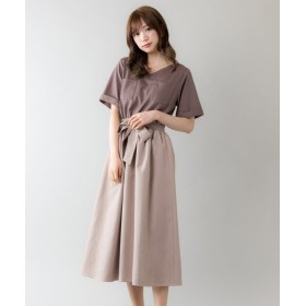 (Rewde/ルゥデ)胸ポケット付ドッキングワンピース(9R05-09141)/レディース モカ
