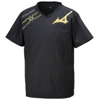(MIZUNO/ミズノ)ミズノ/ブレーカーシャツ/ユニセックス 97ブラック×ゴールド