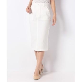 (GeeRa/ジーラ)嬉しい機能付!美シルエットタイトスカート/レディース ホワイト