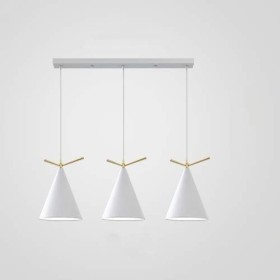 シャンデリア 3つの金属製のシェードシャンデリアの照明E27付きのモダンなミニマリストのレストランランプシャンデリアバーレストランのシャンデリアの天井北欧創造的人格 写真シャンデリア家庭用照明、スタイリッシュで美しい (Color : White)