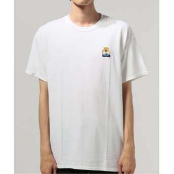 (JOURNAL STANDARD/ジャーナルスタンダード)牛公刺繍Tシャツ/メンズ ホワイト