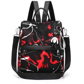 バックパック 女性防水バックパックハンドバッグ財布レディースデイパックティーンエイジャーの女の子のためのファッションバックパック 人気 軽量 可愛い おしゃれ (Color : Red, Size : 28X13X27cm)