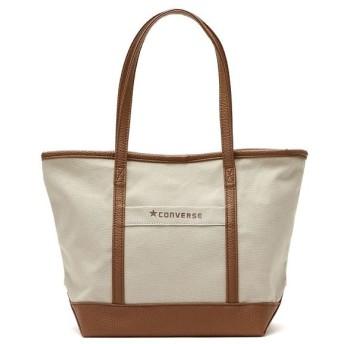 (CONVERSE/コンバース)コンバース トートバッグ CONVERSE バッグ Canvas×Fake Leather Small Tote Bag ミニトート キャンバス 小さめ 145/ユニセックス ベージュ