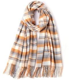 チェック柄ブランケットビッグスクエアロングタータンチェックはネッカチーフ女性スカーフ、冬のショールは、女性のための屋外の暖かさのprintedspliceタッセルラップレジャーをキープ (Color : 05)