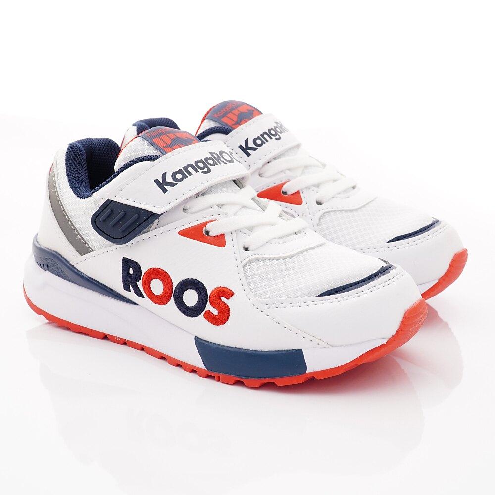 KangaROOS休閒運動童鞋-RUNAWAY ROOS-KK91509白(中大童段)