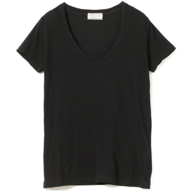 (BEAMS OUTLET/ビームス アウトレット)Ray BEAMS High Basic / スクープ ネック Tシャツ/レディース BLACK
