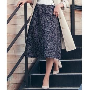 ketty / ケティ ≪洗濯機で洗える≫ラインフラワージャガードスカート