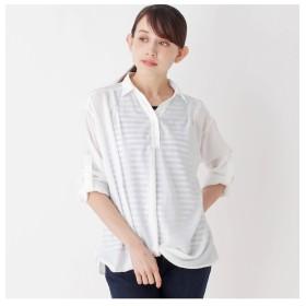 【シューラルー/SHOO・LA・RUE】 【2点セット】裾ねじりスキッパーシャツ+タンクトップ