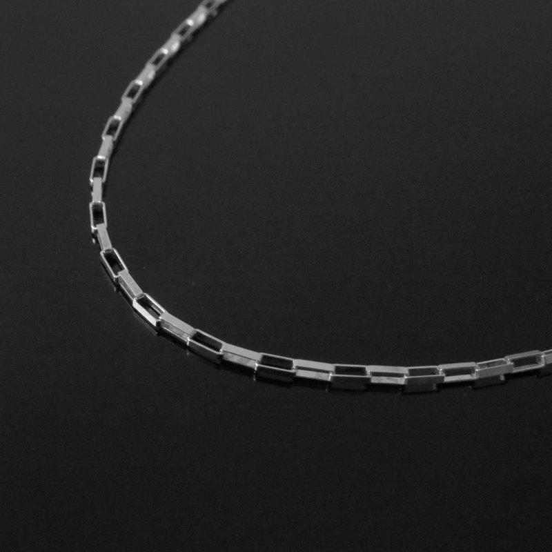 大方格銀鏈1.5mm粗(單鏈子) / 925銀