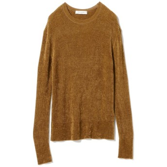 (BEAMS OUTLET/ビームス アウトレット)Demi-Luxe BEAMS / モール リブクルーニット/レディース CAMEL