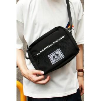 (VENCE EXCHANGE/ヴァンス エクスチェンジ)【別注】KANGOL ファスナーポケットショルダー/メンズ ブラック