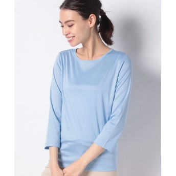 (LA JOCONDE/ラ ジョコンダ)【洗える】スーピマスムース Tシャツ/レディース ブルー