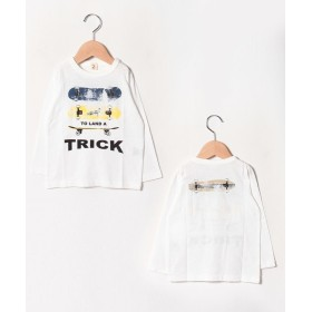 (JEANS-b2nd/ジーンズベーセカンド)TRICKロングTシャツ/レディース オフホワイト