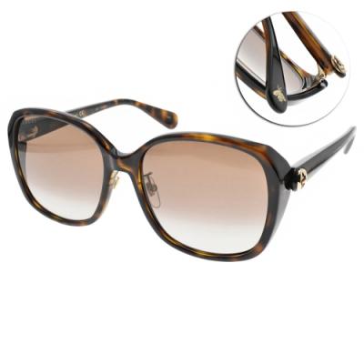 GUCCI  太陽眼鏡 歐美時尚優雅款/琥珀棕-漸層棕 #GG0371SK 002