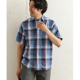 (URBAN RESEARCH OUTLET/アーバンリサーチ アウトレット)【DOORS】マドラスチェックS/Sシャツ/メンズ ブルー