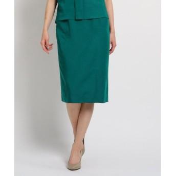 (COUP DE CHANCE/クードシャンス)【洗える】サイドポケット付きツイルタイトスカート/レディース グリーン(022)