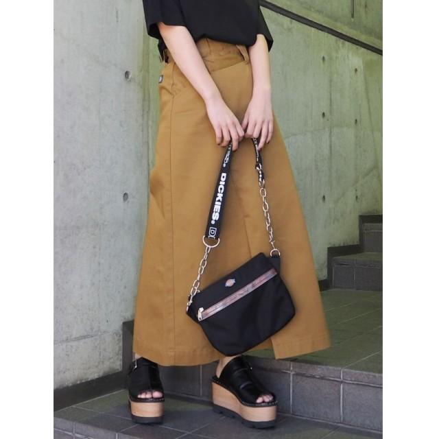 (MURUA/ムルーア)Dickies別注アシメタックスカート/レディース キャメル