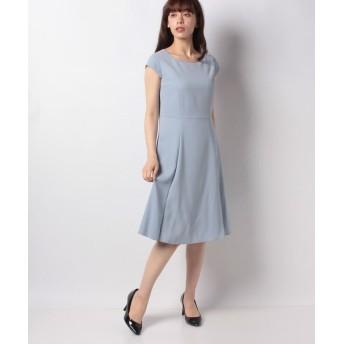 (MISS J/ミス ジェイ)ドビークロス フレンチスリーブ ドレス/レディース ブルー