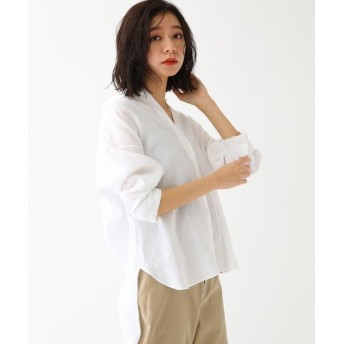 (DRESSTERIOR/ドレステリア)フレンチリネンビッグシャツ/レディース ホワイト(001)