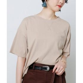(framesRayCassin/フレームスレイカズン)ピグメント裾リブTシャツ/レディース ベージュ