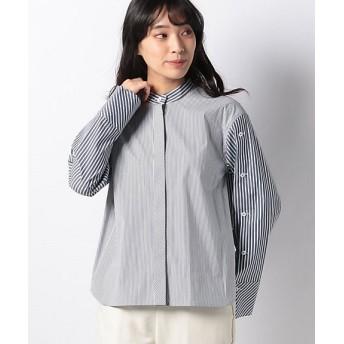 【SALE(三越)】<LA JOCONDE>【洗える】ブロードストライプシャツ シロ【三越・伊勢丹/公式】