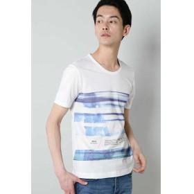 (TORNADO MART/トルネードマート)BLUE TORNADO∴フォトボーダープリントTee/メンズ ブルー