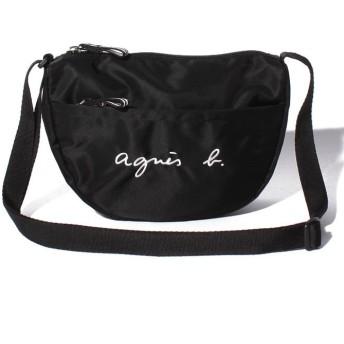 (agnes b. ENFANT/アニエスベー アンファン)GL11 E BAG ロゴポシェット/ ブラック