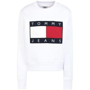 《セール開催中》TOMMY JEANS レディース スウェットシャツ ホワイト XS コットン BCI 100% TJW TOMMY FLAG CREW NECK