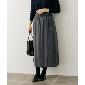 (KAGURE/カグレ)sigalm 小紋柄ラップスカート/レディース GRAY