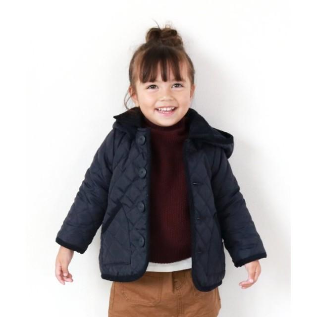 (quoti use fith/クオティユースフィス)ナカワタ 長袖 キルトジャケット/ ネイビー