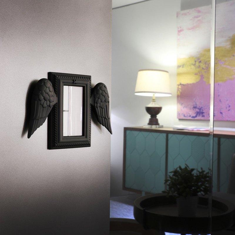 VaMarssa 翅膀小開關面板 (黑)