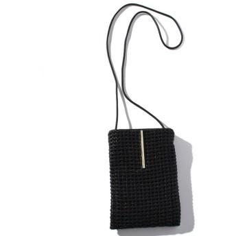 (SMIR NASLI/サミールナスリ)Leather Mesh Pochette/レディース BLACK