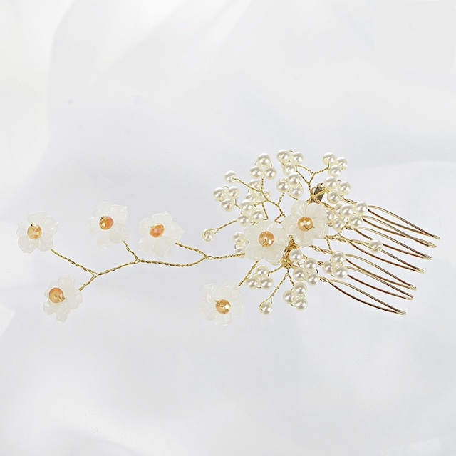 【HUAYUE】SOO&SOO 象牙白珍珠髮簪