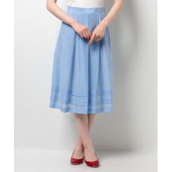 (ELISA/エリザ)シルクコットンボイルスカート/レディース サックス