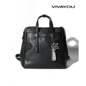 (VIVA YOU(BAG&WALLET)/ビバユーバッグアンドウォレット)【VIVAYOU ビバユー】A4ノートも収納可能なアーバンリュック/レディース ブラック
