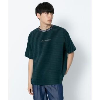 (SENSE OF PLACE/センスオブプレイス)ロゴボーダーTシャツ(半袖)/メンズ GREEN