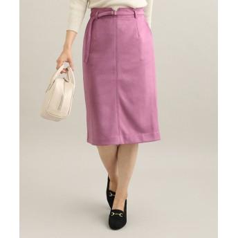 (ViS/ビス)【MACHINE WASHABLE】 エコスエードタイトスカート/レディース ピンク系(65)