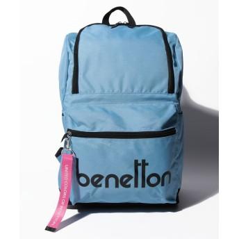 (BENETTON (women)/ベネトン レディース)背面ファスナー付きロゴDパックフロントファスナーリュック・バックパック/レディース サックスブルー